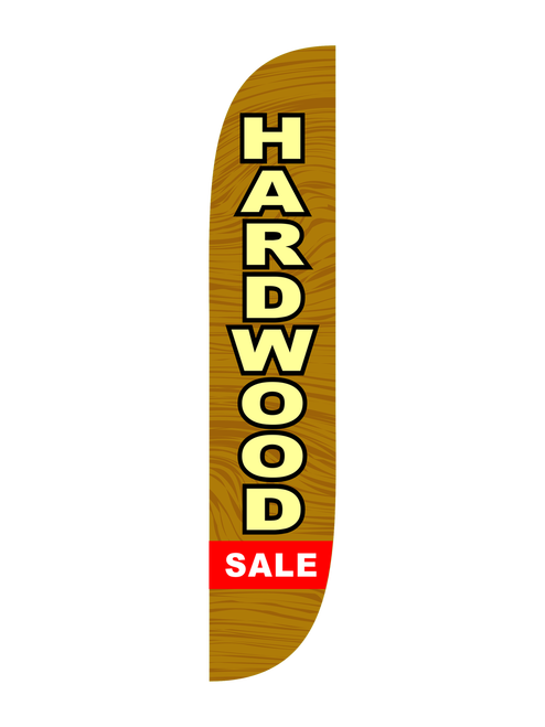 12ft Hardwood Sale Feather Flag Wood Brown