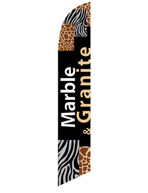 12ft Marble Granite Feather Flag