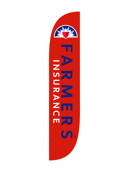 12ft Farmers Insurance Feather Flag