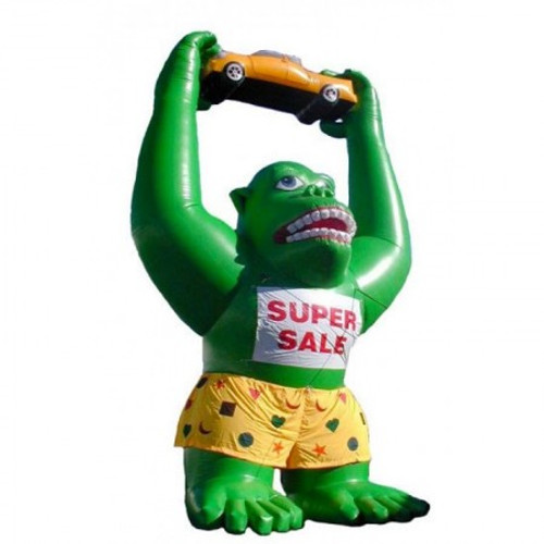 20ft  Green Gorilla  with Glasses and Shorts