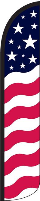 Stars & Bars Wind-Free Feather Flag