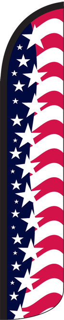 Star Spangled Banner Wind-Free Feather Flag