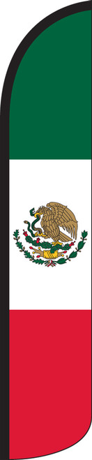Mexico Wind-Free Feather Flag