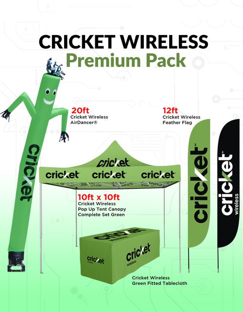 Cricket Wireless Outdoor Advertising and inflatable Premium Products