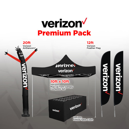 Verizon Wireless Outdoor Advertising and Inflatable Budget Package Products