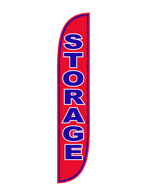 Storage Feather Flag Red