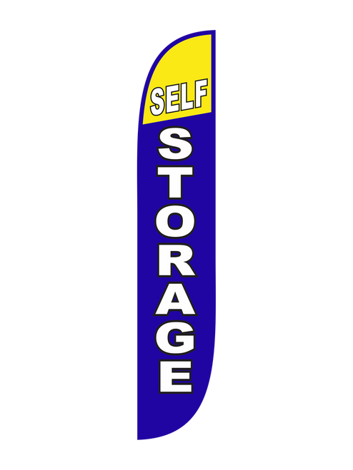 Self Storage Feather Flag Blue