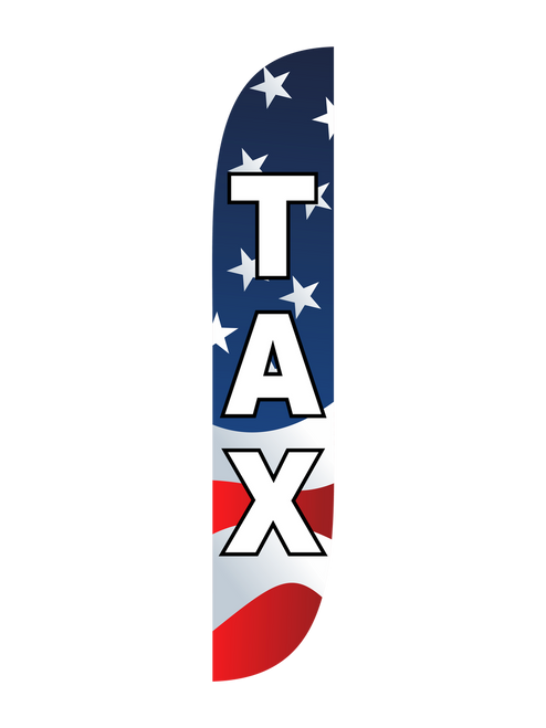 Tax Feather Flag American Flag Red White Blue