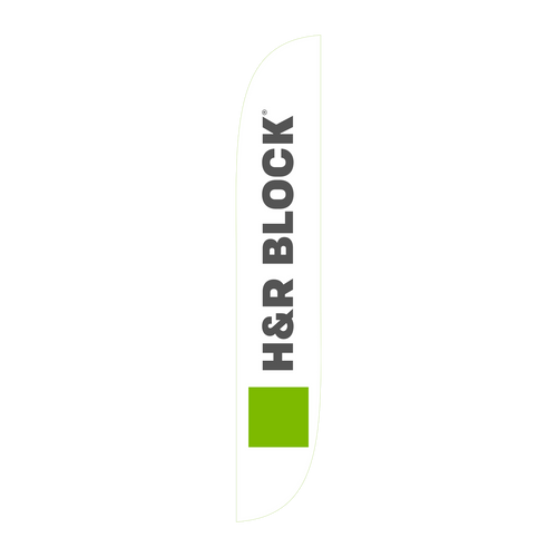 H&R Block Feather Flag White