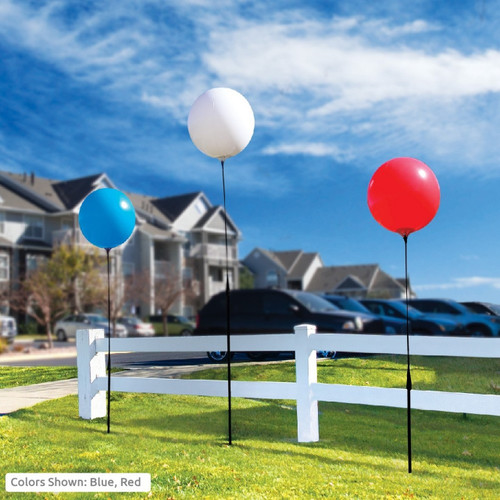 Reusable Vinyl 1 Balloon Kit With Ground Stake Pole Kit