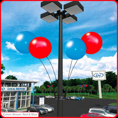 Reusable Vinyl Balloon Light Pole Kit - 4 Balloons
