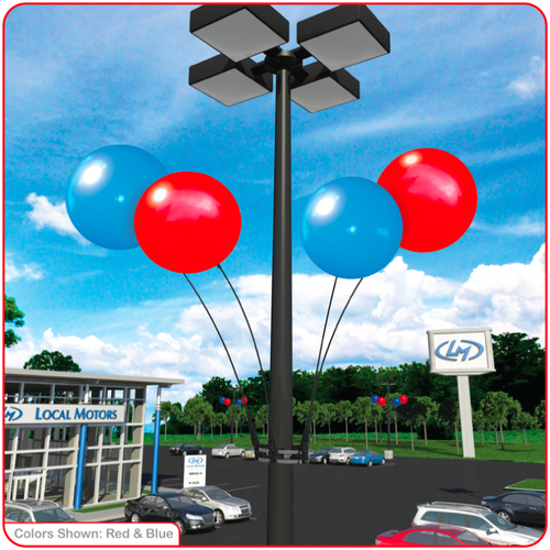 Reusable Vinyl Balloon Light Pole Kit - 4 Balloons