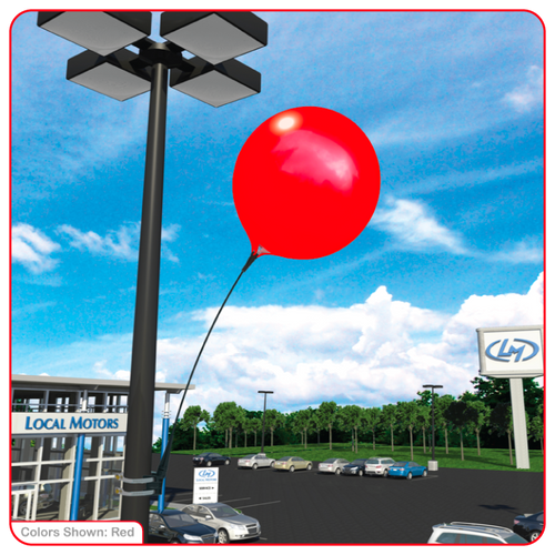 Reusable Vinyl Balloon Light Pole Kit
