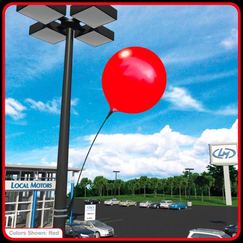 Reusable Vinyl Balloon Light Pole Kit
