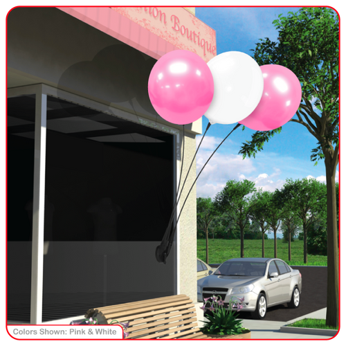 Reusable Vinyl Balloons With Suction Cup Kit - 3 Balloons