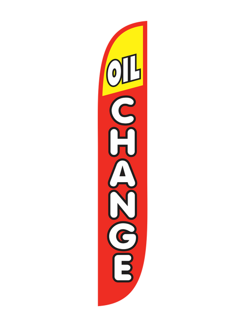 Oil Change Feather Flag