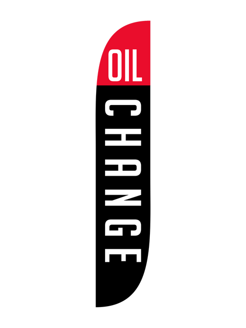 Oil Change Feather Flag Black