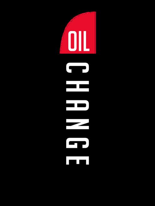 Oil Change Feather Flag Black