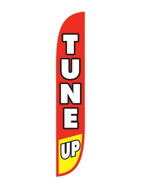 Tune Up Feather Flag Red & Yellow