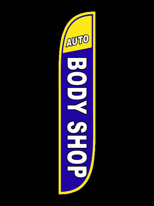 Auto Body Shop Feather Flag