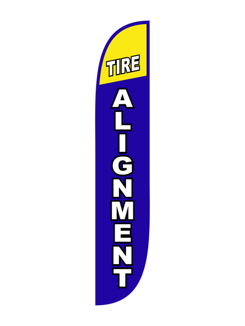 Tire Alignment Feather Flag Blue
