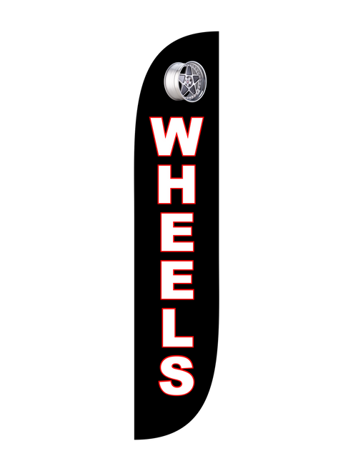 Wheels Feather Flag