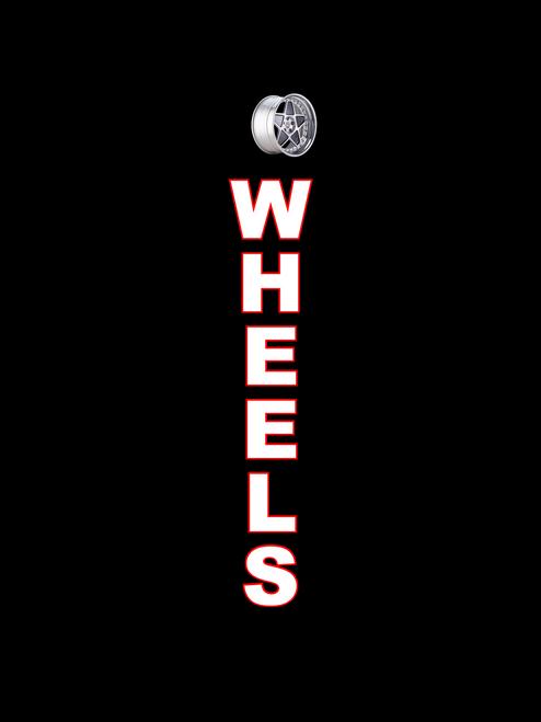 Wheels Feather Flag