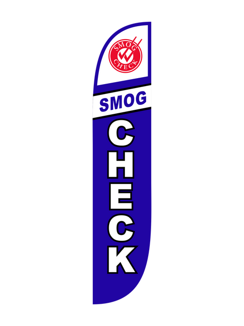 Smog Check Feather Flag