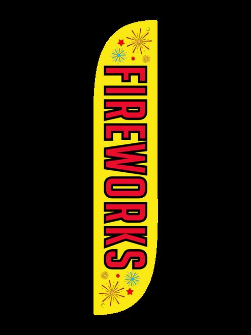 Fireworks Feather Flag Yellow