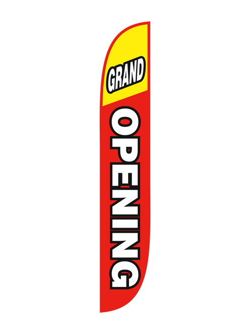 Grand Opening Feather Flag Red & Yellow
