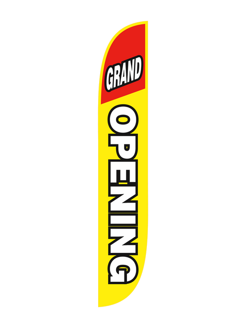 Grand Opening Feather Flag Yellow & Red