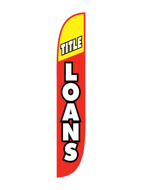 Title Loans Feather Flag