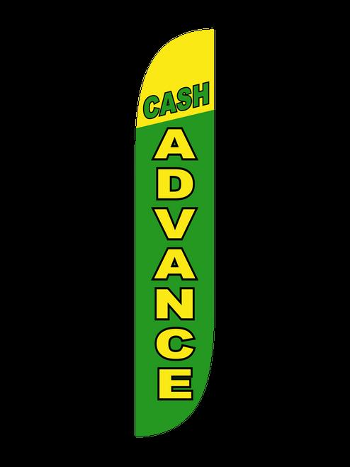 Cash Advance Feather Flag