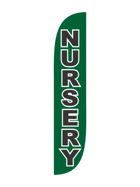 Nursery Feather Flag Green