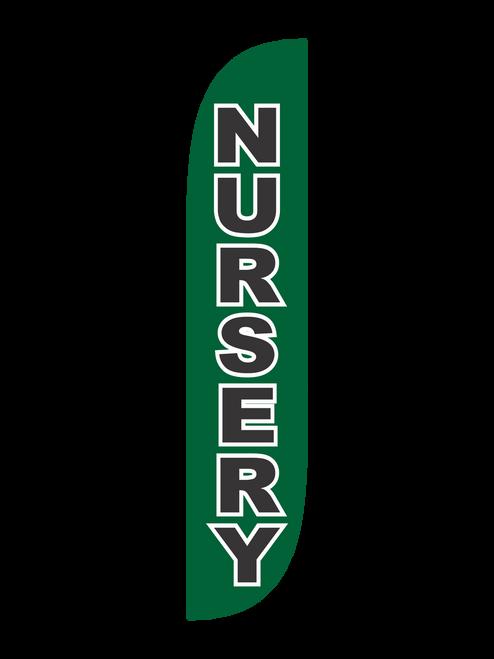 Nursery Feather Flag Green