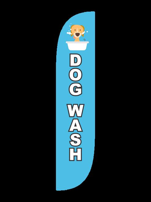 Dog Wash Feather Flag