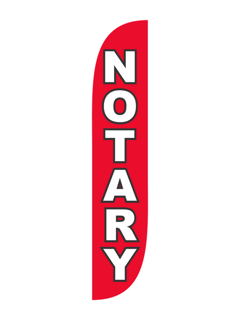 Notary Feather Flag Red