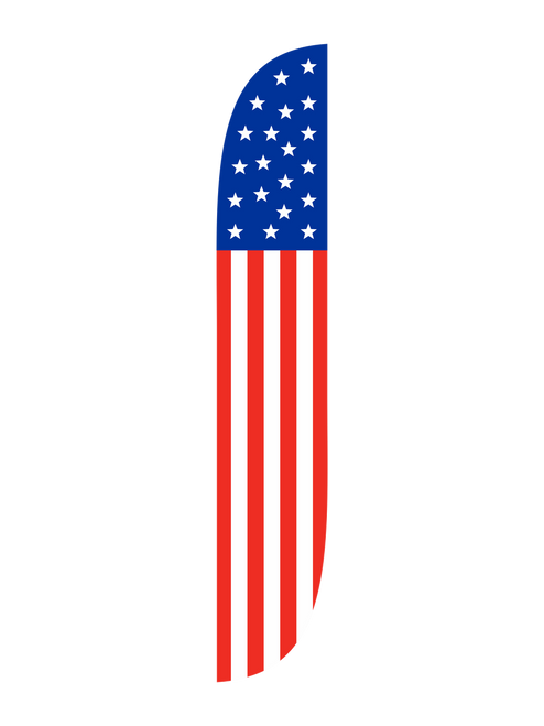 American Flag Feather Flag