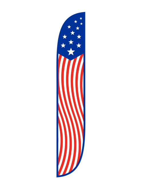 American Feather Flag Old Glory Vertical