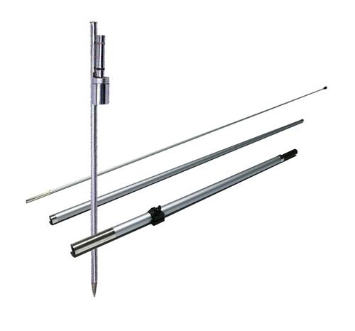 Fiberglass 3pc Pole Set & Ground Spike Set 7ft