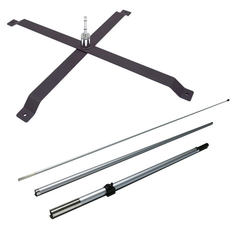 Fiberglass 3pc Pole Set & X-Stand Set for 7ft