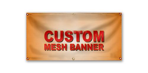 Custom Printed Mesh Banner
