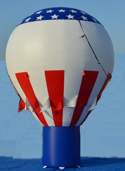 20ft Red/White/Blue Hot Air Balloon Shape with Free Banner