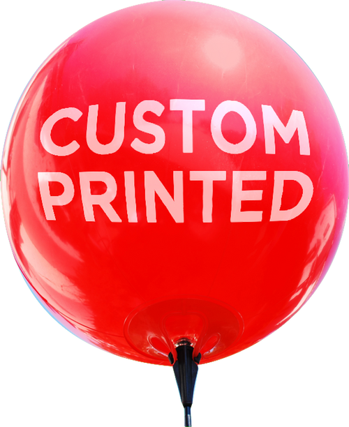 CUSTOM REUSABLE VINYL OUTDOOR BALLOONS - 50 Balloon Min.
