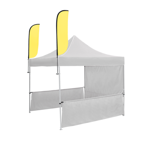 POP UP TENT DUAL FEATHER FLAG ADD-ON PACKAGE
