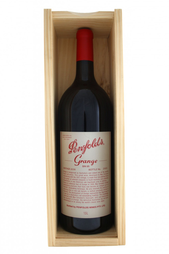 Penfolds Grange Magnum 2006 in a presentation box