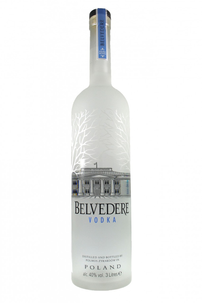 Belvedere Vodka 3 litre Up-lighted Illuminated Vodka Bottle