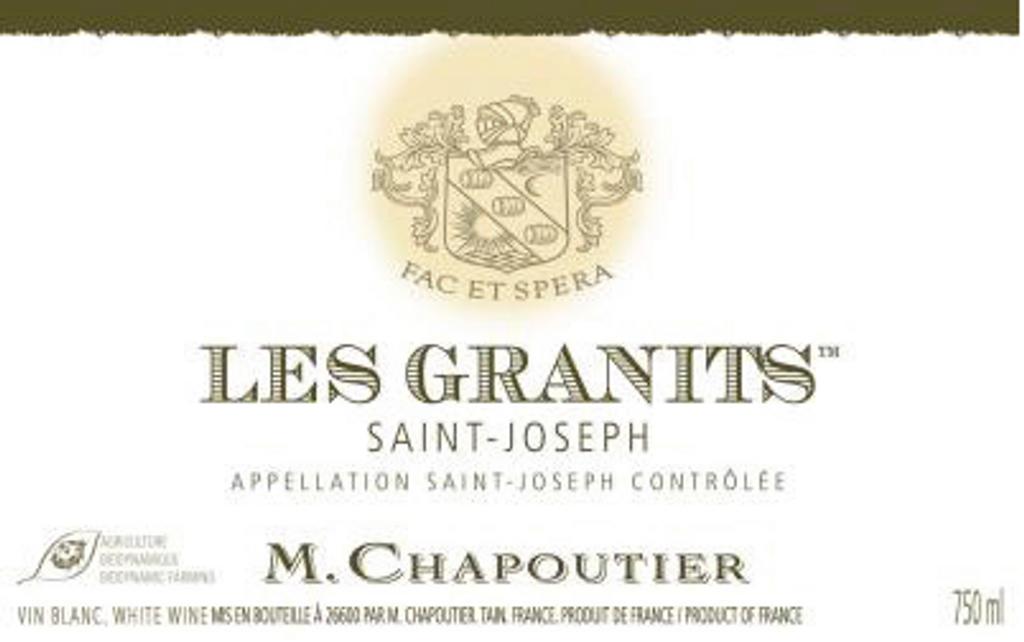 Saint Joseph Blanc Les Granits 2012
