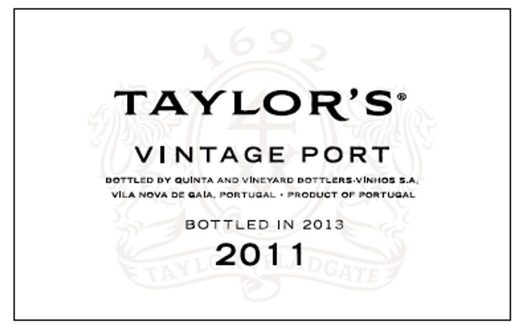 Taylors 2011 Vintage Port