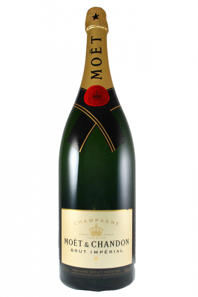 Moet and Chandon Brut Imperial Jeroboam 3L in wooden box